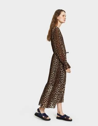Just Female Zomi Maxi Dress in Leo Aop