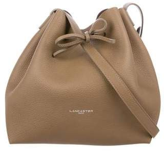 Lancaster Pebbled Leather Bucket Bag