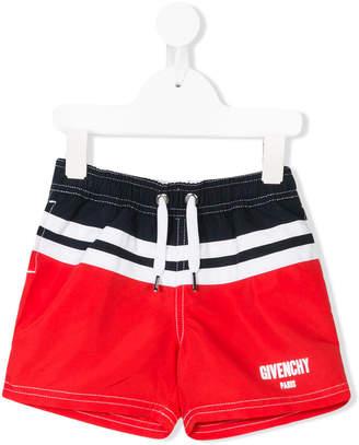 Givenchy Kids striped swim shorts