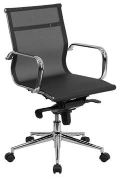 Orren Ellis Davis Mesh Executive Swivel Mid-Back Desk Chair with Synchro-Tilt Mechanism