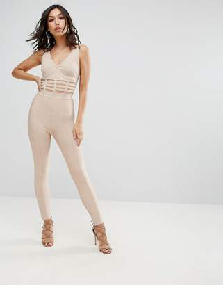 Asos Design Bandage Jumpsuit with Caged Waist Detail