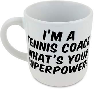 Coach Fotomax I'm a Tennis whats your superpower? round mug