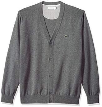 Lacoste Men's Long Sleeve Jersey Cardigan Sweater
