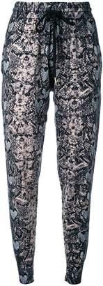 Markus Lupfer snakeskin print track pants