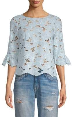 Rebecca Taylor Adriana Floral Eyelet Top