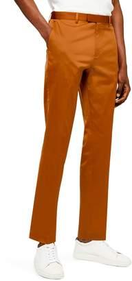 Topman Slim Fit Satin Suit Trousers