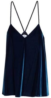Derek Lam 10 Crosby Braid-Trimmed Velvet Camisole