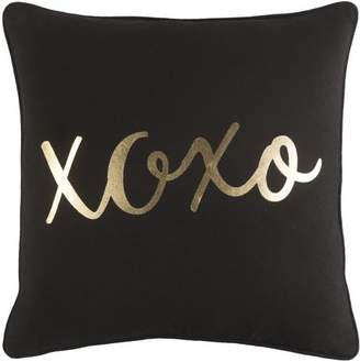 "Artistic Weavers Glyph Hugs and Kisses 18"" x 18"" Pillow Cover"