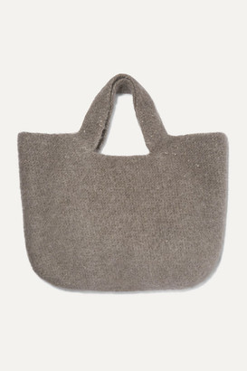 LAUREN MANOOGIAN Oval Cotton, Alpaca And Wool-blend Tote - Gray