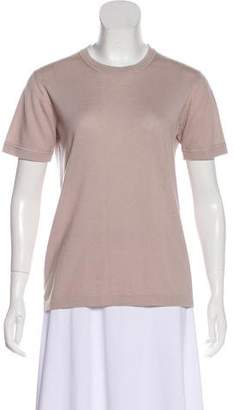 Tomas Maier Cashmere Short Sleeve Top