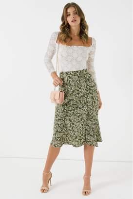 Cotton On Womens Slip Midi Skirt - Green