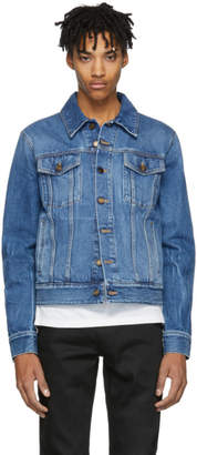 Saint Laurent Blue Denim Shadow Jacket