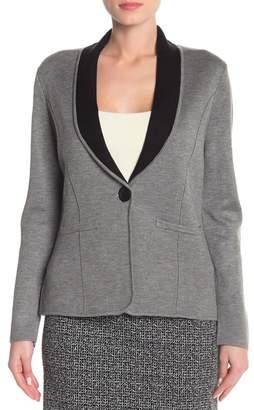 Nine West One Button Shawl Sweater