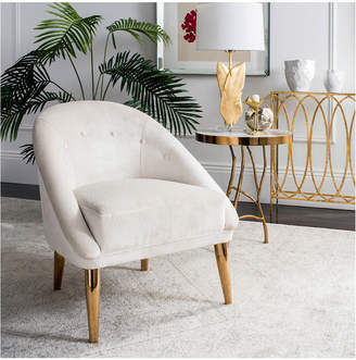 Safavieh Hopkins Velvet Club Chair With Gold Legs