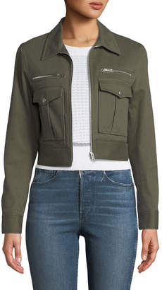 Rag & Bone Pike Cropped Zip-Front Utility Jacket