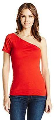 Velvet by Graham & Spencer Women's Gauzy Whisper One Shoulder Top