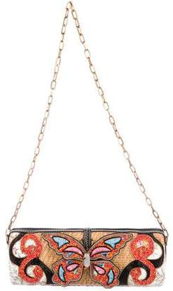 Mary Frances Embellished Butterfly Clutch