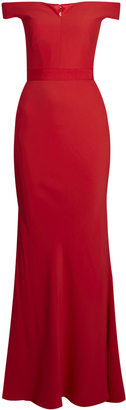ALEXANDER MCQUEEN Off-the-shoulder crepe gown $2,398 thestylecure.com