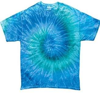 Tye-Dyed Adult Swirl Tie-Dyed Cotton Tee (Blue Jerry Swirl) (X-Large)