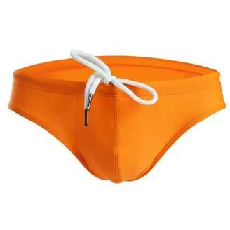 Trunks CSMARTE Mens Solid Swim Briefs Drawstring Shorts Bikini Briefs Sport Swimwear (, M)