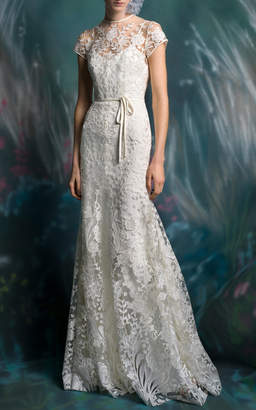 Isa Belle Isabelle Armstrong Sage Lace Trumpet Gown