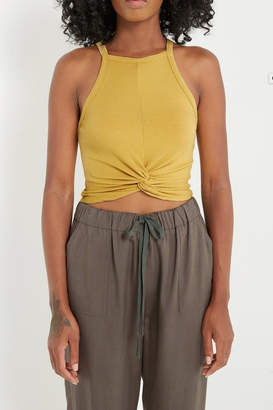 Soprano Front-Knot Crop-Top Tank