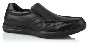 George Black Leather Slip-on Shoes