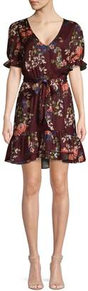 Dex Ruffle V-Neck Belted Dress