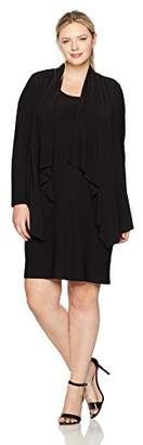Jones New York Women's Plus Size Ls Cascade Mock Cardigan