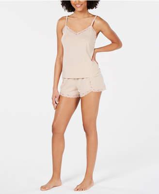 INC International Concepts Inc Lace-Trim Sparkle Pajama Set
