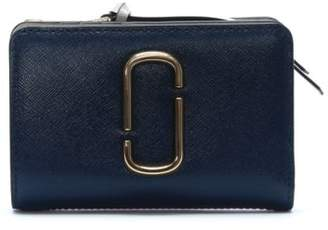 Marc Jacobs Snapshot Compact Blue Sea Leather Wallet