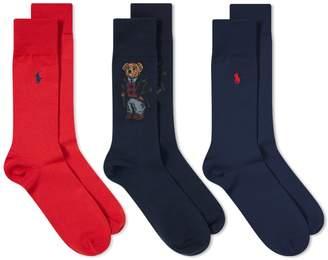Polo Ralph Lauren Bear Sock - 3 Pack