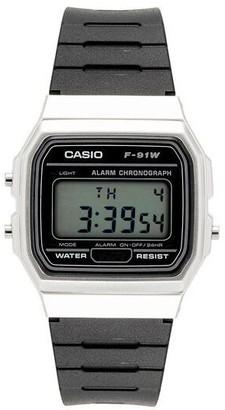 Casio Men's Black and Silver Digital Watch