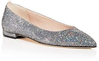 Sarah Jessica Parker Women's Story Glitter Pointed Toe Ballet Flats