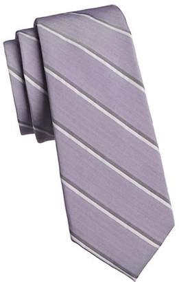 Calvin Klein Chalk Stripe Silk Tie