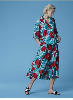 Diane von Furstenberg Short-Sleeve Collared Beach Shirt