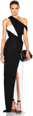 Mugler Jersey Viscose & Fitted Cady Gown $3,780 thestylecure.com