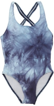 Finger In The Nose Tie Dye Lycra One Piece Swimsuit
