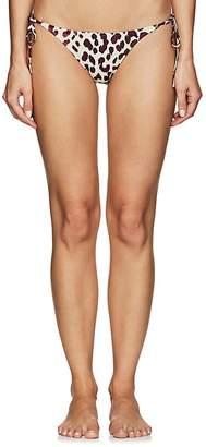 On The Island Women's Cobra Leopard-Print String Bikini Bottom