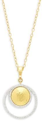 Gurhan Women's 24K Yellow Gold & Pave Diamonds Hoop Pendant Necklace