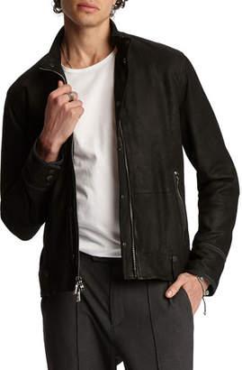 John Varvatos Men's Goat Suede Slim-Fit Jacket