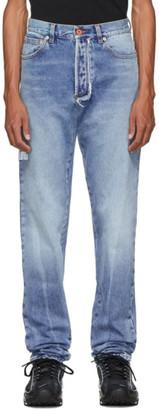 Heron Preston Blue Regular 5 Pocket Jeans
