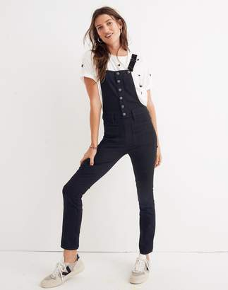 Madewell Skinny Overalls in Black Frost: Button-Front Edition