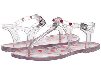 Love Moschino Transparent PVC Sandal with Heart Detailing