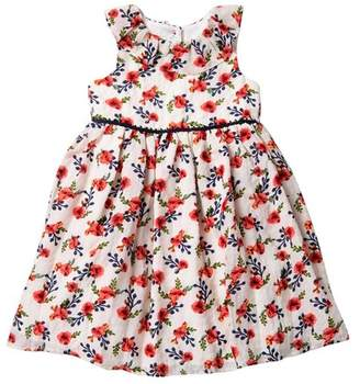 Laura Ashley Chiffon Print Dress (Toddler & Little Girls)