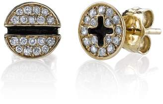 Sydney Evan Diamond Pave Screw Stud Earrings