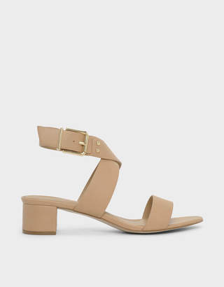 26b92a12b7b8 Charles   Keith Criss Cross Thick Strap Heeled Sandals