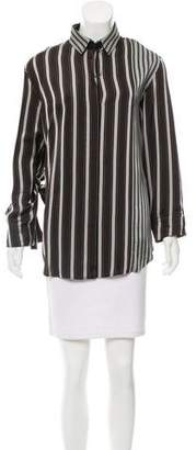 Joseph Striped Button-Up Top