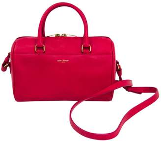 Saint Laurent Duffle Pink Leather Handbags