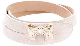 RED Valentino Suede Bow Belt